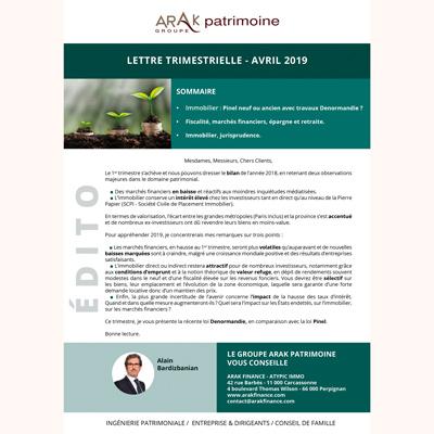 Newsletter-Arak-Patrimoine